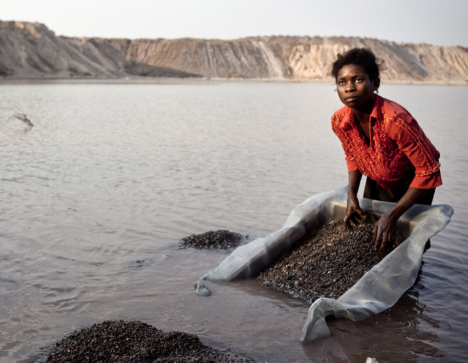 Woman Mining in the DRC