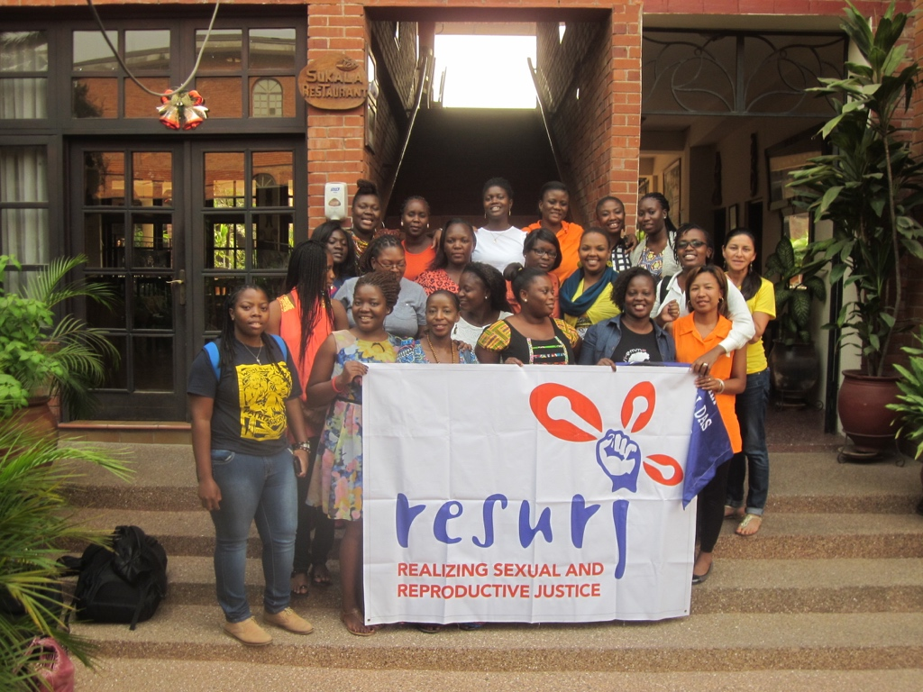 Young Feminist Dialogues Accra RESURJ Banner Group Photo