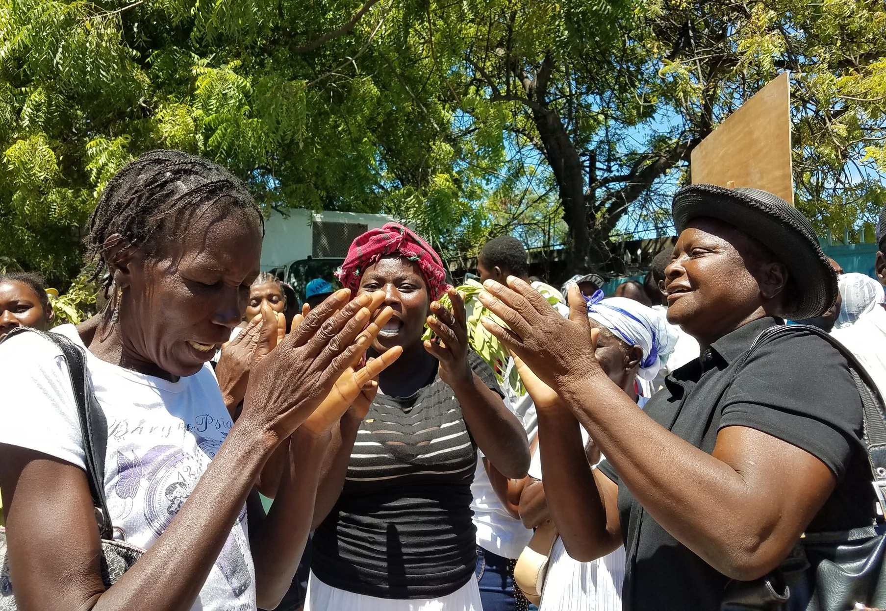 Women at Cholera Protest