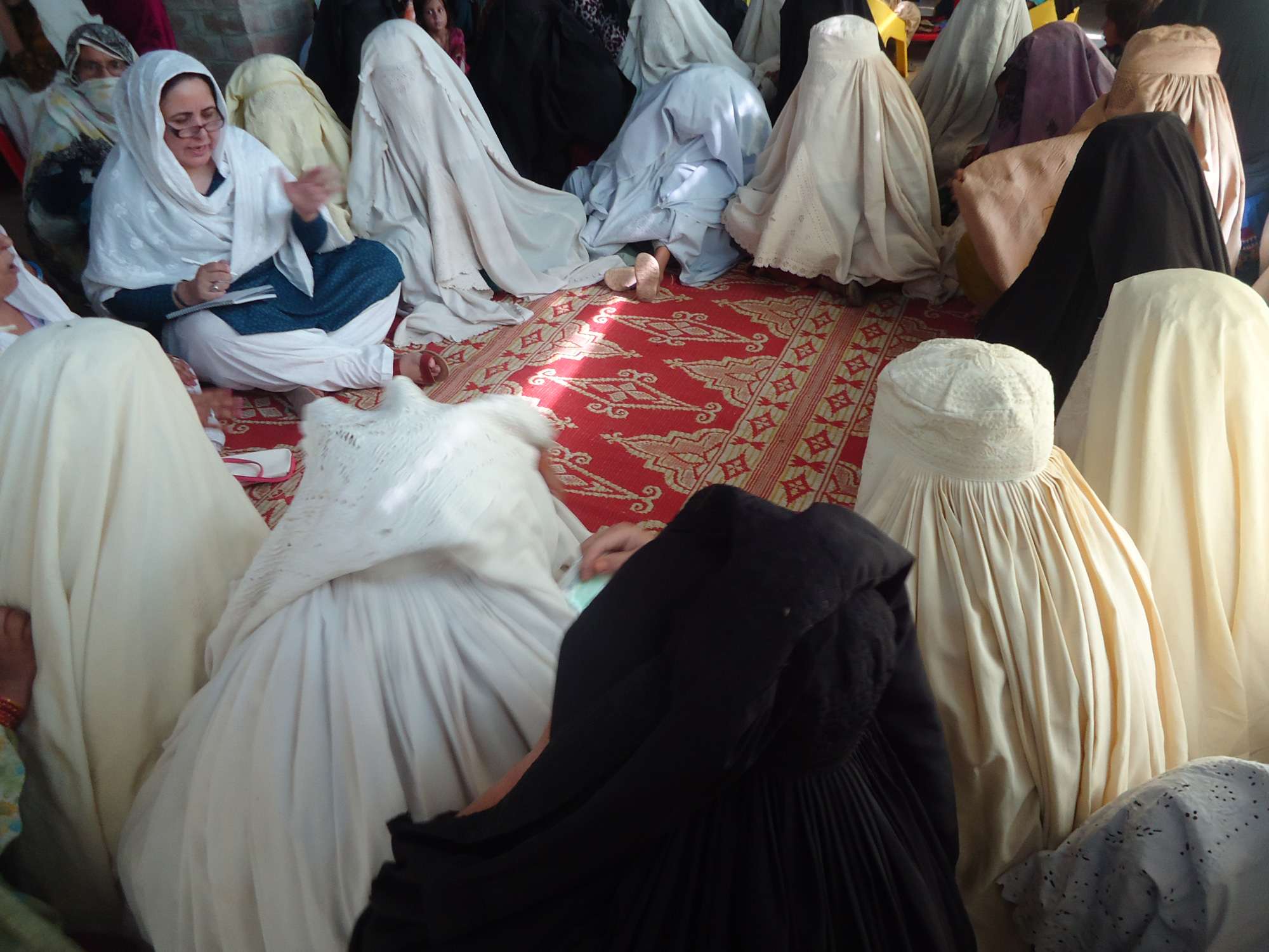 Women IDPs from Waziristan in Bakahel Camp