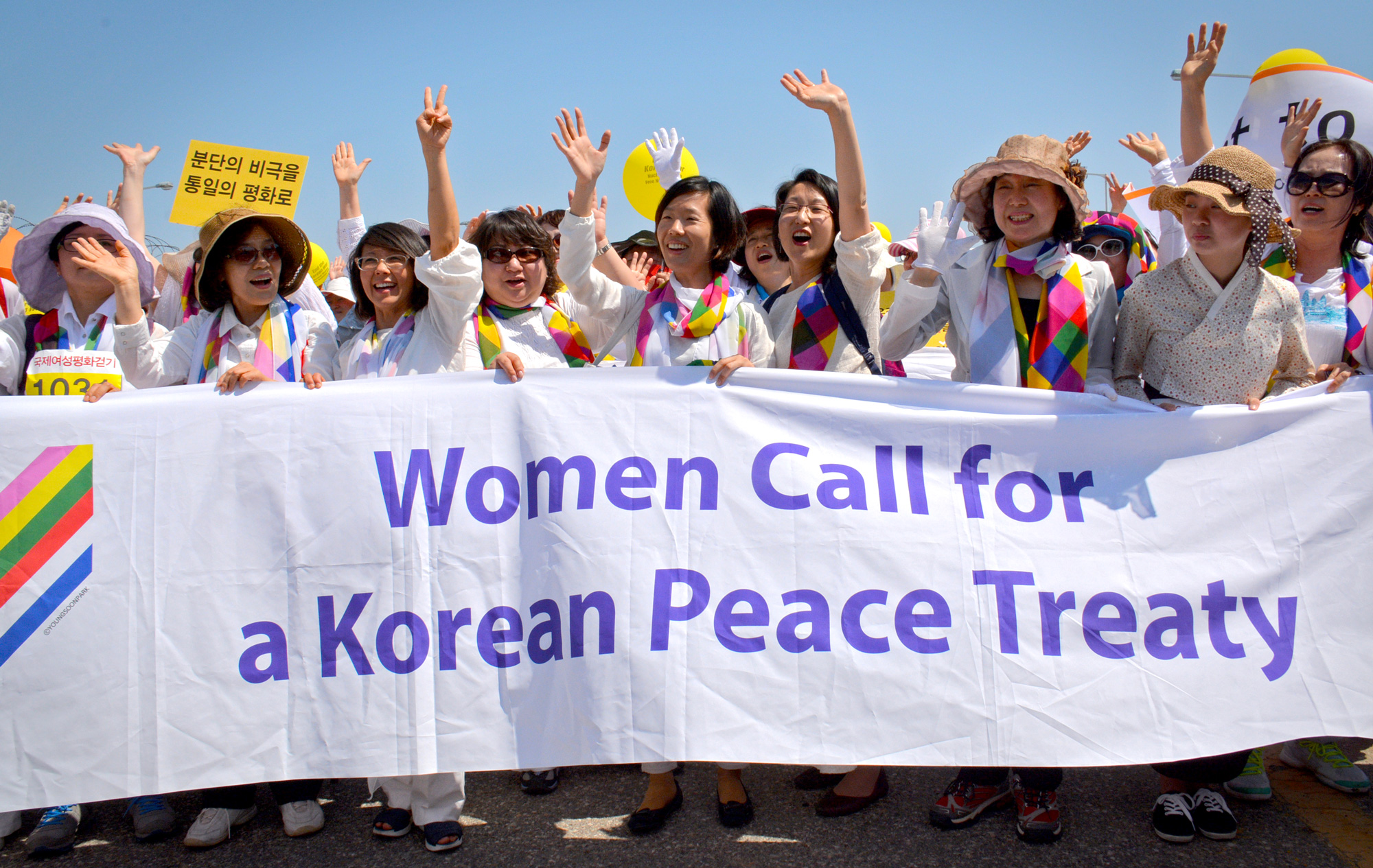 Women Call for Korean Peace Treaty supporters