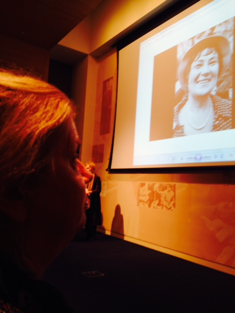photo Stephanie Ortoleva at a CSW59 Reception Honoring Bella Abzug