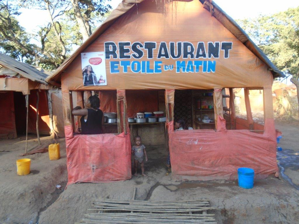 Restaurant at the artisanal mine site in DRC