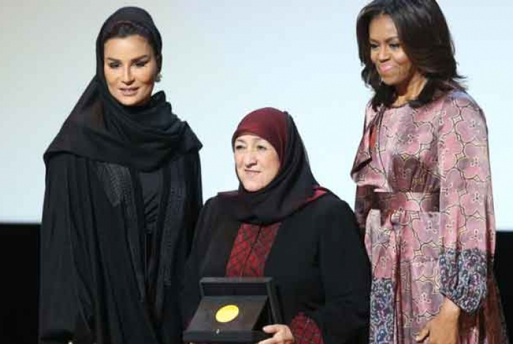 Dr. Sakena Yacoobi with Michelle Obama