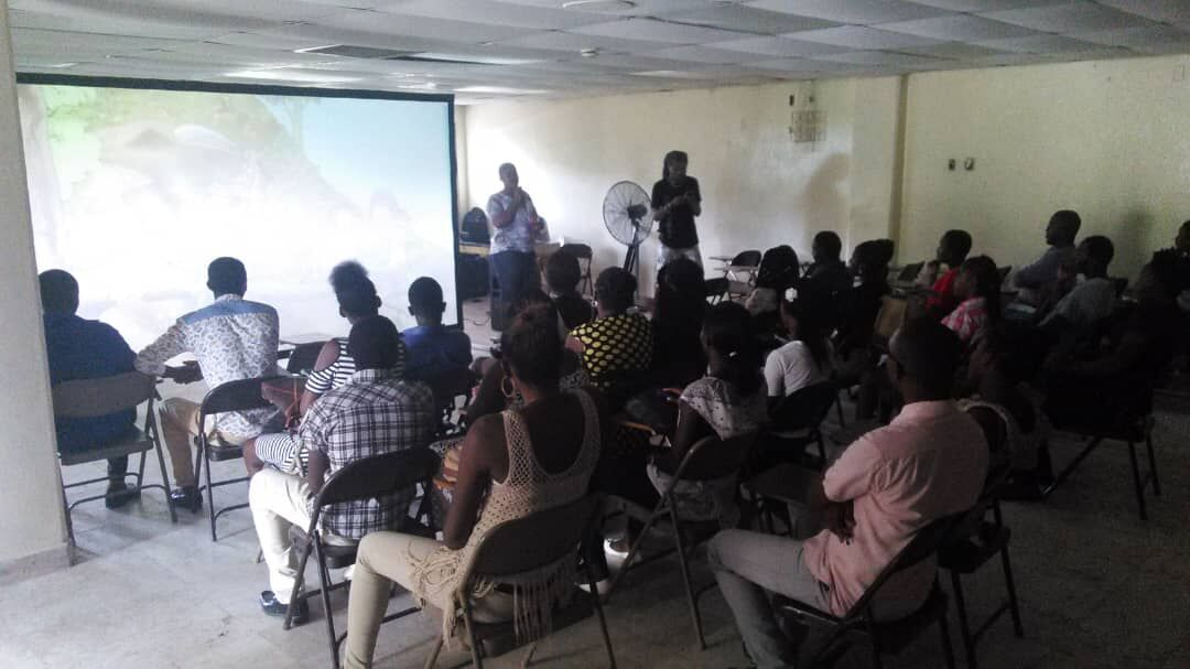 Screening of The Uncondemned at The American University of the Caribbean, Les Cayes, Haiti.