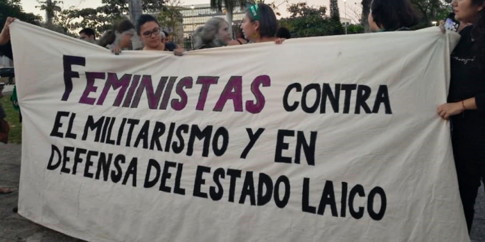 Feminists against militarism and in defense of the secular state