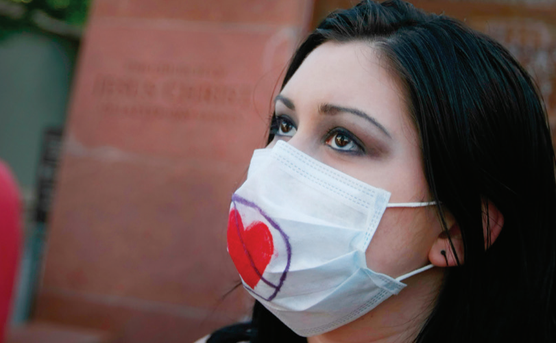 Woman Wearing COVID-19 Mask