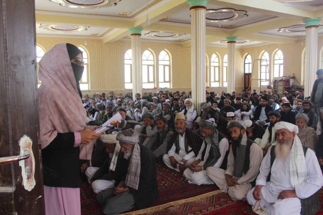 Mina's List Aspiring Candidate campaigning in Baghlan Province, Afghanistan