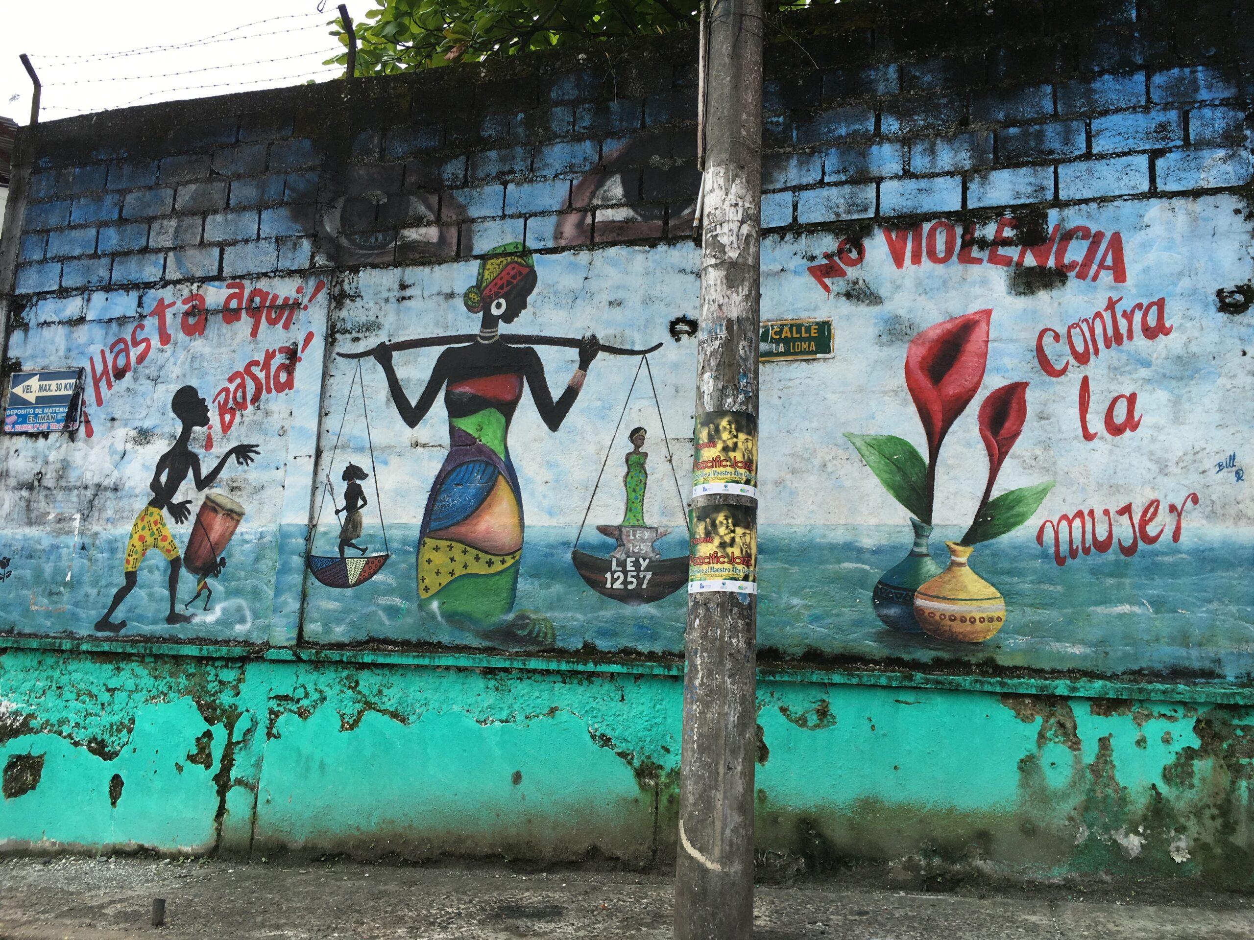 Mural in Buenaventura, Colombia. Photo courtesy VidaAfrolatina